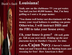 obama louisiana and bush II