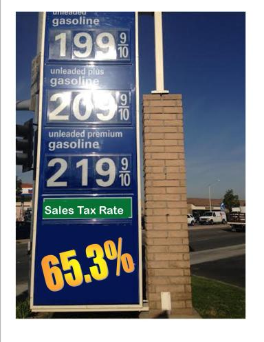 gas two dollar 65 3% tall sign