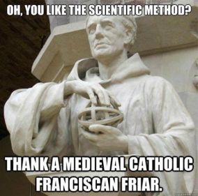 scientific method thank a franciscan friar