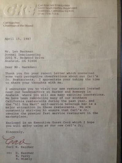 carls letter