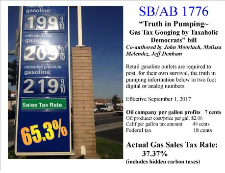 gas tax bill truth in pumping bill 1776