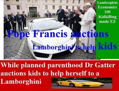 lamborghini for pope and dr gatter