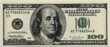 $100 bill Ben Franklin