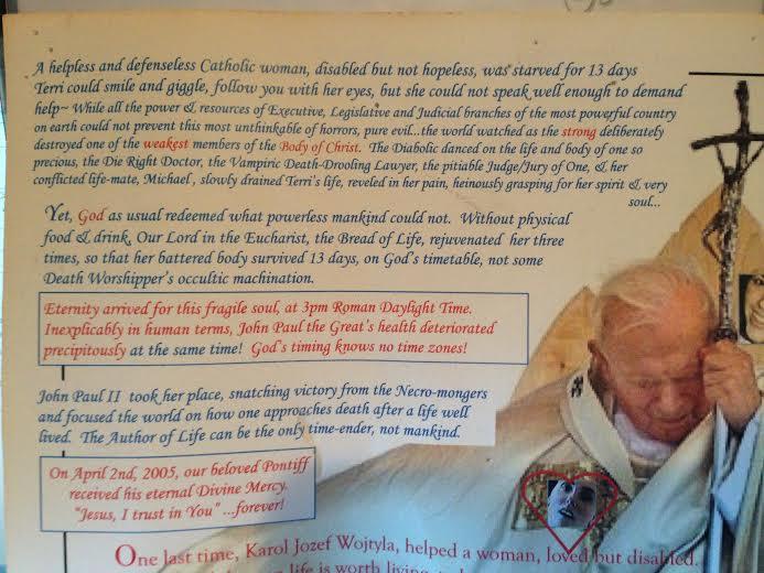 Pope St. John Paul the Great & Terri part 1