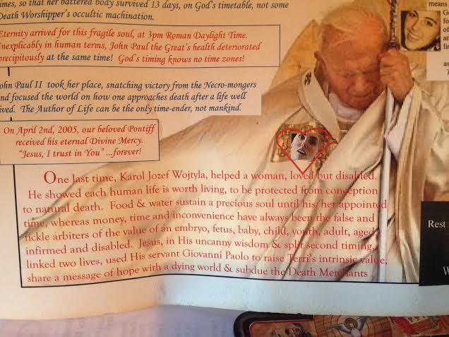 Pope St. John Paul the Great & Terri part 2
