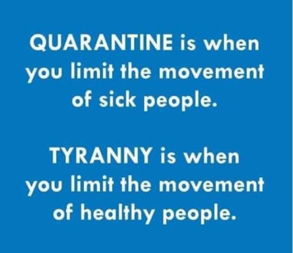 covid quarantine and tyranny