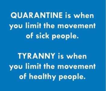 covid quarantine and tyranny